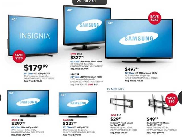 Best buy tv prices