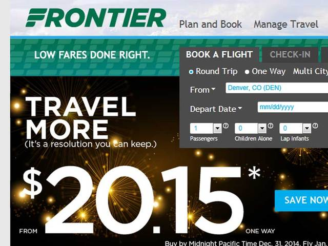 Frontier Airlines Offers 20 15 Fare Sale On Last Day Of