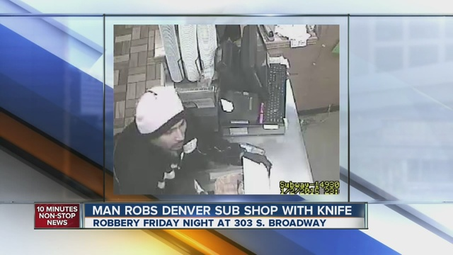 Denver police seek suspect in robbery at subway restaurant for Amber cuisine moffat
