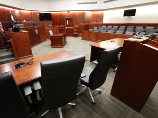 Look inside the theater shooting trial courtroom