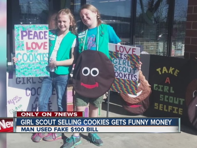 girl scout selling cookies in west denver handed phony