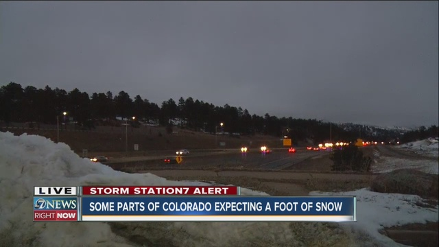 Some parts of Colorado can expect a foot of snow from this weekend's