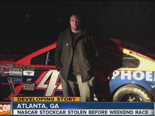 Stolen No 44 Nascar Race Car Found In Suburban Atlanta