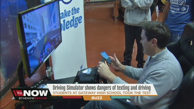 texting and driving simulator helps teenagers learn the dangers of distracted driving denver7. Black Bedroom Furniture Sets. Home Design Ideas