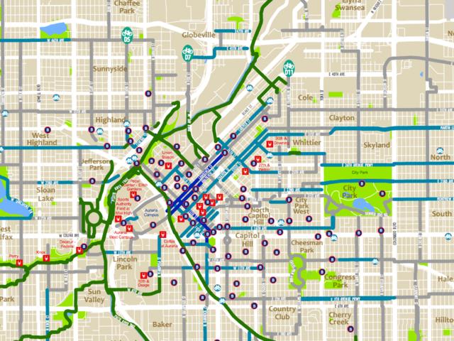 Image result for denver bike map