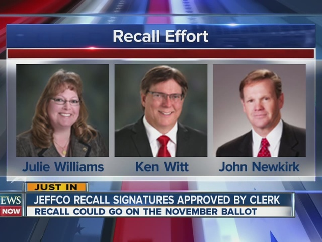 Jefferson County recall signatures approved by Clerk
