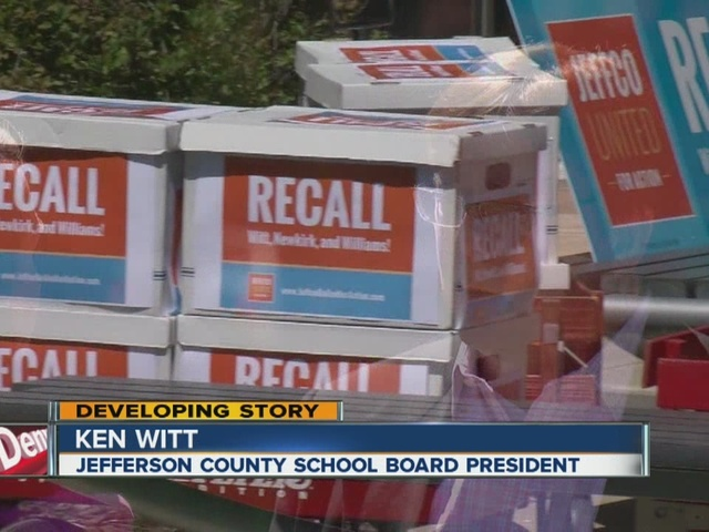 Signatures approved in recall report