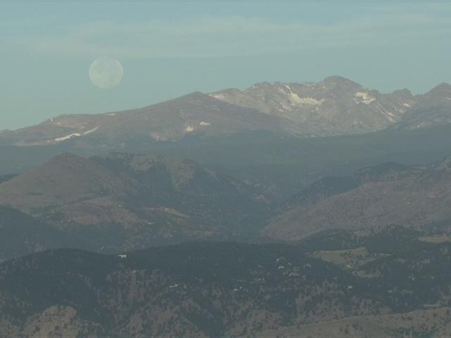 video  supermoon over the mountains in colorado