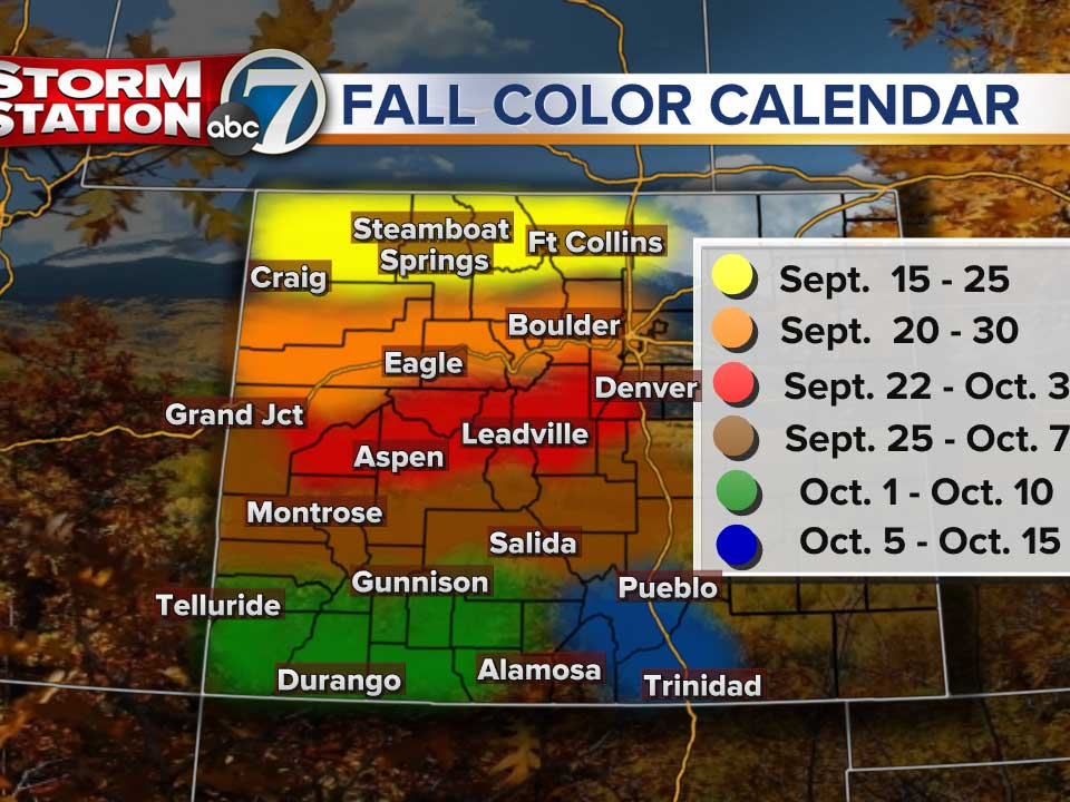 Colorado Fall Colors Map Where to go, and when, for fall colors in Colo.