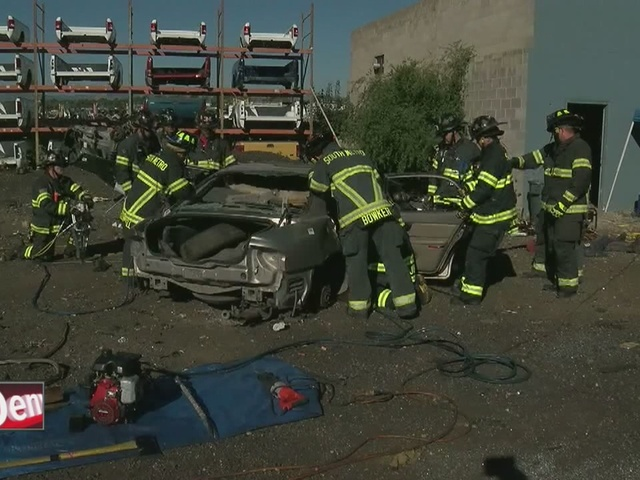 firefighters train for crashes with new vehicles