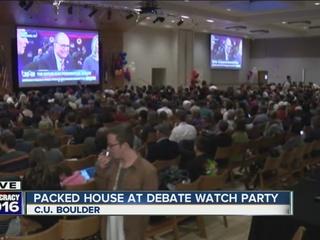CU Boulder students pack GOP debate watch party
