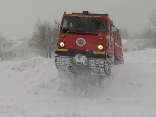 Elizabeth Fire helping save lives with snow cat