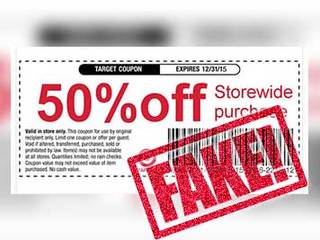 Target 50% off coupon is a fake