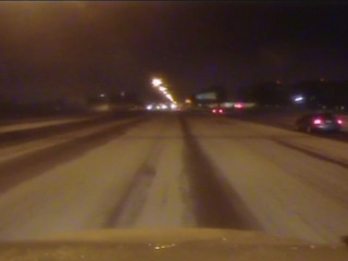 Icy, slick road conditions for Black Friday