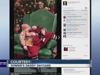 Snoozing baby inspires fun Santa photo