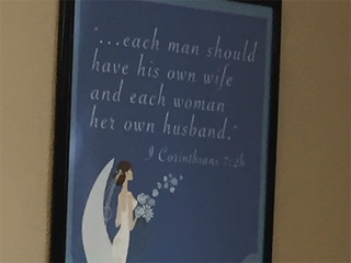 Debate: Biblical marriage poster at govt. office