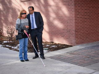 Blind Coloradan receives first