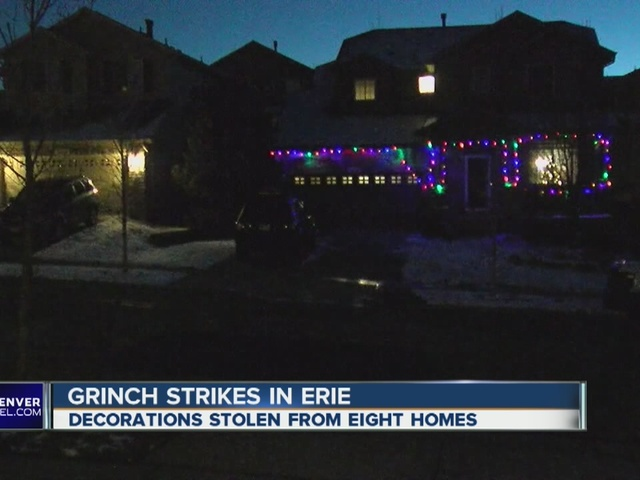 Grinch Christmas Lights.Grinch Steals Laser Christmas Lights In Erie
