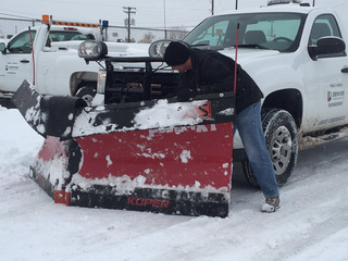 Denver deploys residential snowplows for storm