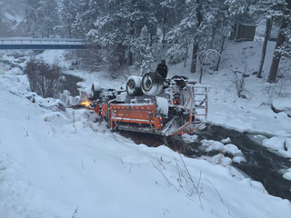 Not even CDOT plows are immune to unsafe roads