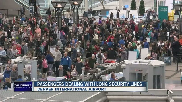 Brilliant Airport Security Line At Dia Expect Peak Wait Times Denver International Thedenverchannelcom T To Decorating
