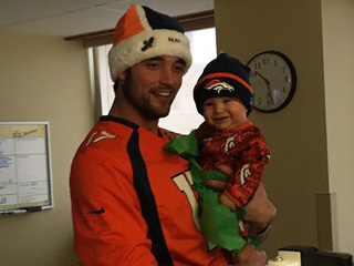 Brock Osweiler brings holiday cheer to sick kids