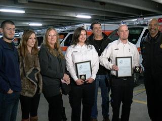 DPD honors paramedics who saved officer