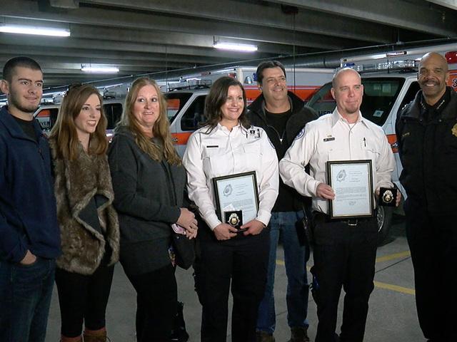 Denver Police honor paramedics who helped save Denver Officer Tony ...