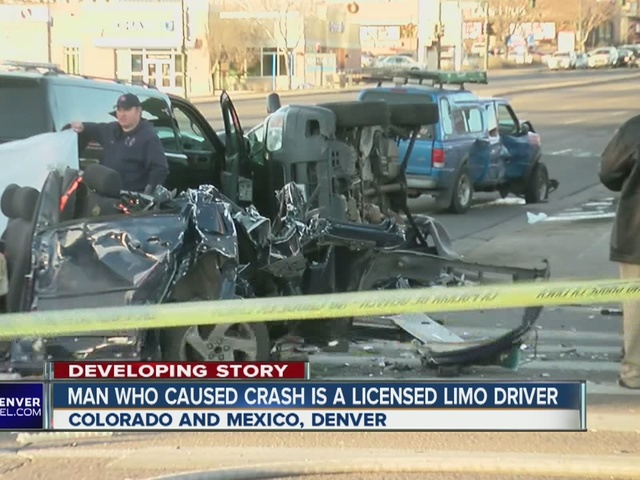 Suspect in deadly Denver crash is a limo driver