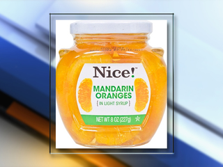 RECALL: Nice! Mandarin Oranges may contain glass
