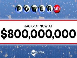 Powerball jackpot surges to $800 million