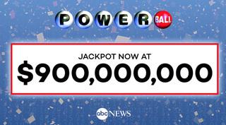 Powerball jackpot rises to $900 million