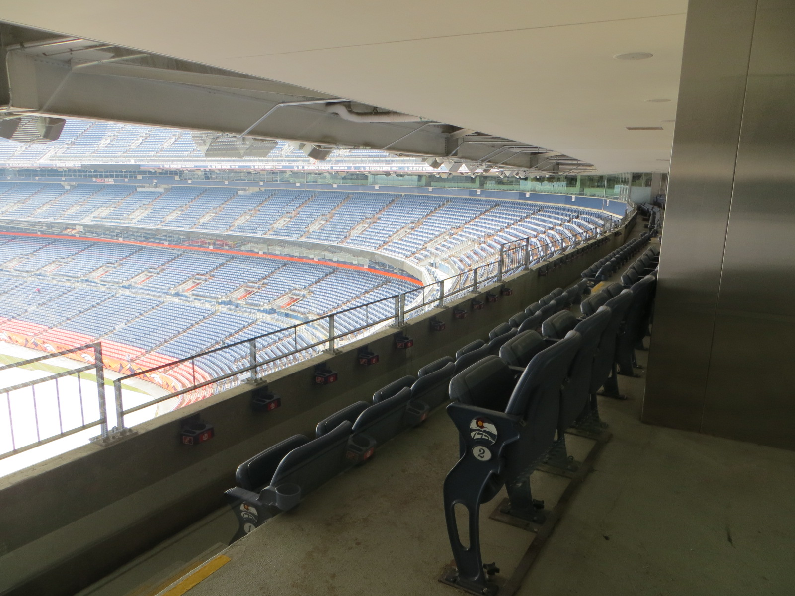 secrets of sports authority field at mile high stadium where unlike coors field where the seats that are a mile high are purple at sports authority field those seats are the same color as all the others