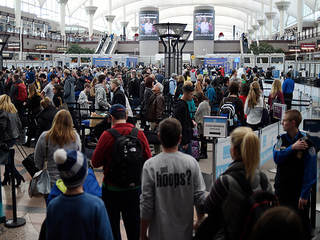 Long lines at DIA for Memorial Day Weekend