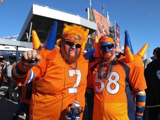 Broncos fans show their pride!