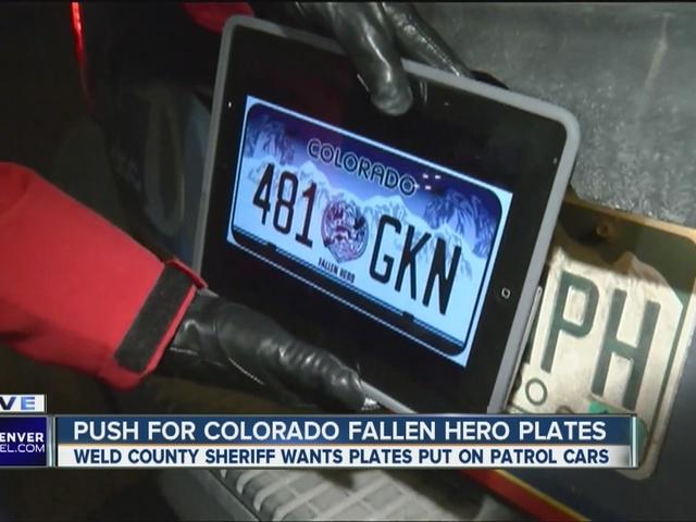 weld county wants to put colorado fallen hero license