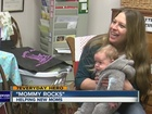 Volunteer provides rocking chairs for new moms