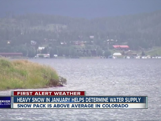 Heavy snow fall helps Colorado's water supply