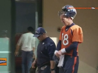 Manning was 'on fire' at Thursday's practice