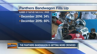 Survey: Panthers fans jumped on bandwagon