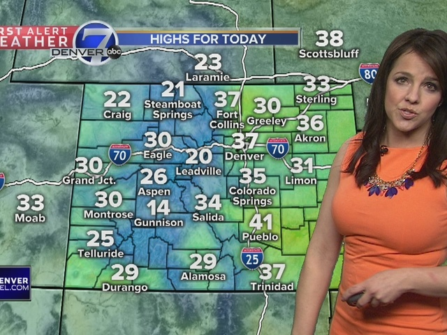 30s today, 40s tomorrow for the Front Range