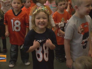 Broncos pep rally at Orchard Valley Learning