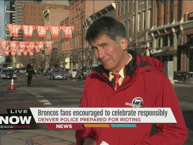 Denver Police encourage Broncos fans to celebrate responsibly