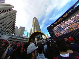 360-degree video of Super Bowl City on Saturday