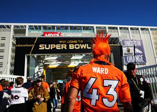 Broncos fans at Levi's Stadium for Super Bowl 50