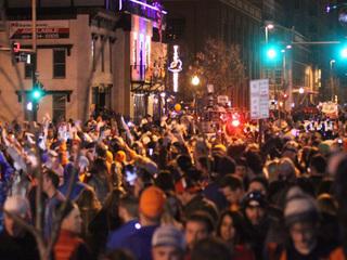 Mostly peaceful crowds celebrate SB50 in Denver