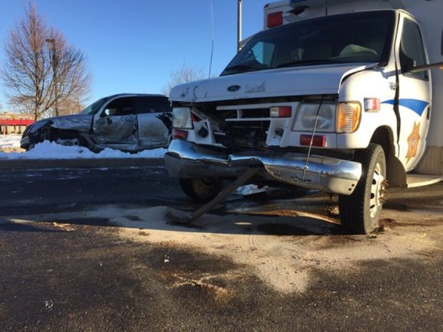 Larimer Sheriff's negotiation van involved crash