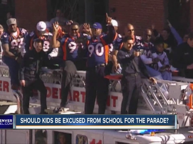 Will students be excused from school for Broncos Parade