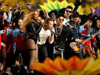 Bruno Mars and Beyonce overshadow Coldplay