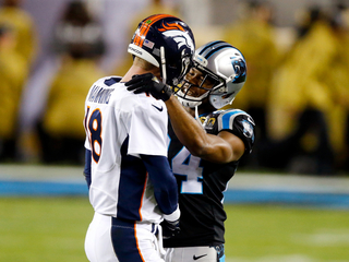 Panthers cornerback salutes Peyton Manning